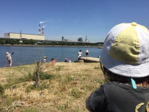 高石漁港と子供たち