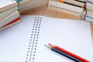 勉強をしている